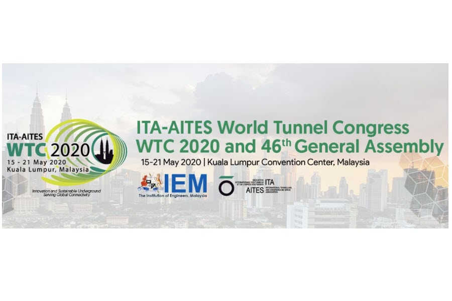 WORLD TUNNELING CONGRESS WTC 2020 MALAYSIA IS DELAYED